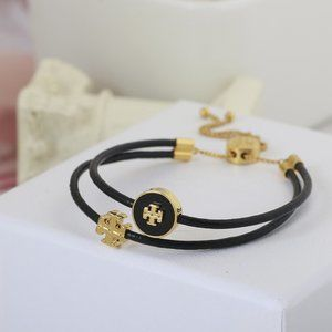 🎁Tory Burch Leather Double-Layer Round Bracelet